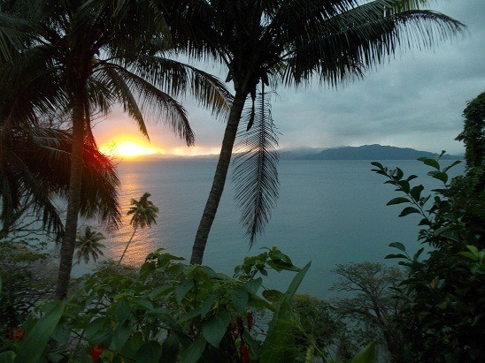 Another epic sunset from the front porch here in Savusavu, Fiji. Check out the contrast.
