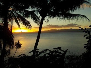 Peace, serenity and calm from our pack porch in Savusavu, Fiji.