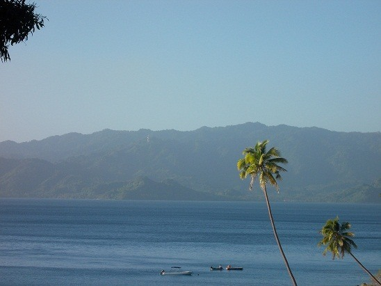 The epic view from our driveway in Fiji and yes....the cover of my eBook, Blogging from Paradise.