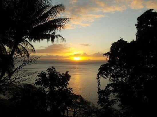 The sunsets do not get better than here in Savusavu, Fiji.