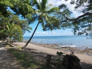 Our 'hood in Savusavu, Fiji. Not a bad beach down the street from our place.