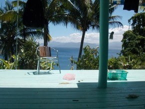 The home office view from Savusavu, Fiji today.