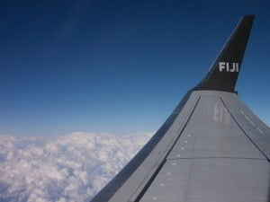 My home office is sometimes in a plane, 40,000 feet above Fiji....like right where I snapped this photo.