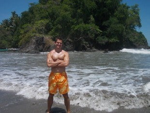 Me on the shores of Manuel Antonio, Costa Rica.