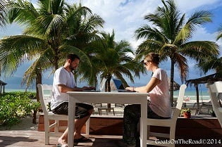 Blogging-on-Holbox-Island-in-Mexico