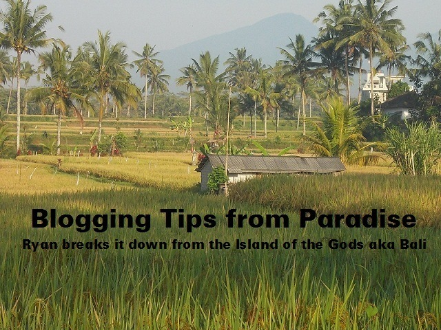 blogging tips from paradise