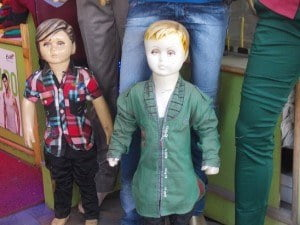 Even paradise is not immune from creepy child mannequins.