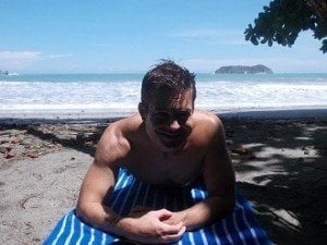 Me on the sunny shores of Manual Antonio, Costa Rica. From June 2013.