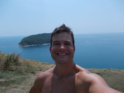 Me on the southern end of Phuket. I am either really tall or on a cliff.