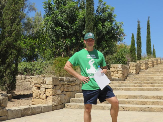 Me chilling in Paphos, Cyprus. But did you know....the rest of the story?