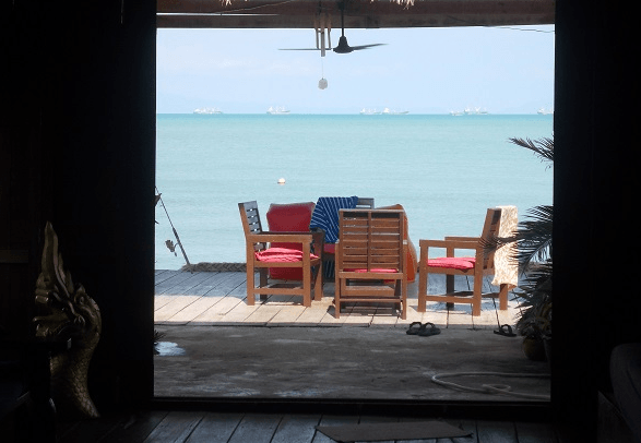 The home office in Koh Lanta, Thailand.