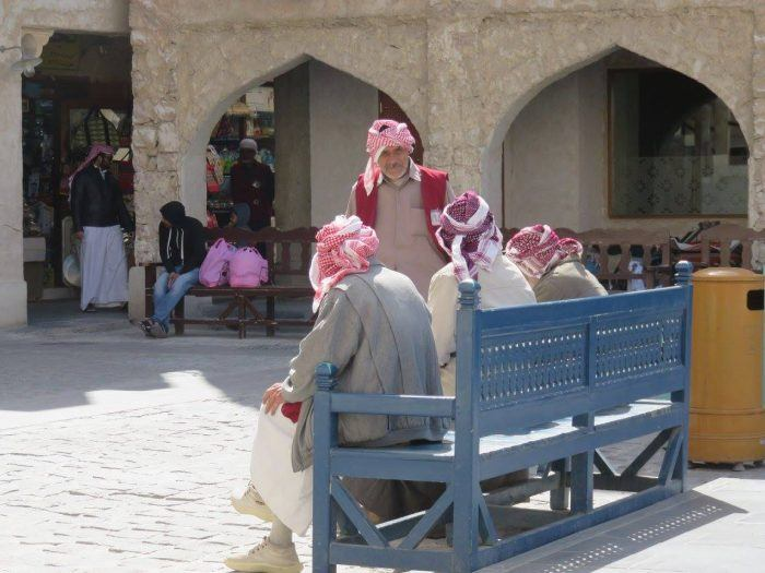 Chilling at the Souq Waqif in Doha Qatar