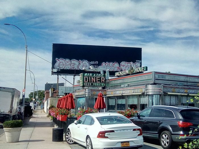 Jackson Hole Diner, Queens, NYC. One filming location for the movie Goodfellas.