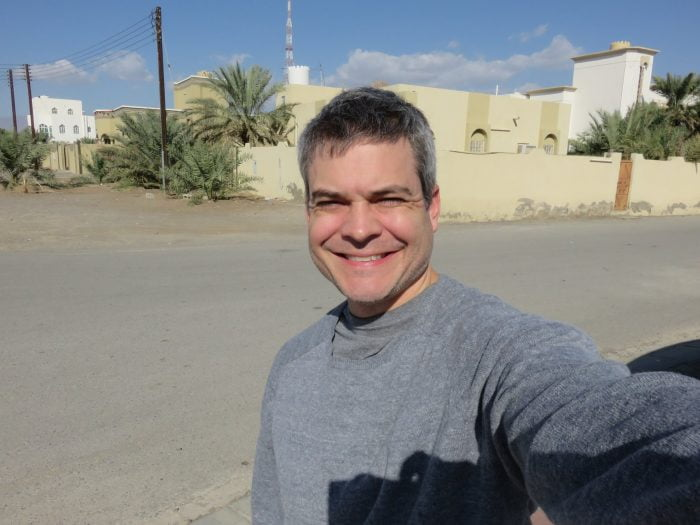 I am enjoying my time in Nizwa, Oman. So much so that I took my first official seflie with my snazzy camera today. Our neighborhood is a quiet, conservative spot in a chill city. Generous, warm folks invited us for coffee and dates multiple times already.