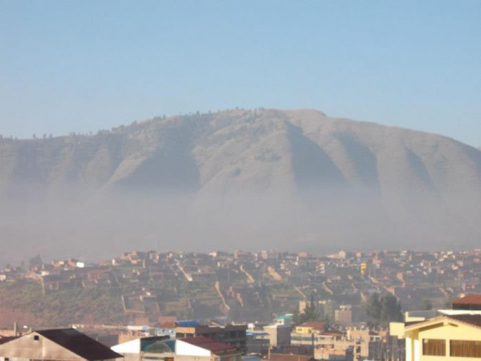 Morning fog in Cusco, Peru. I enjoyed watching it burn off as the sun rose amid the mighty Andes mountains.