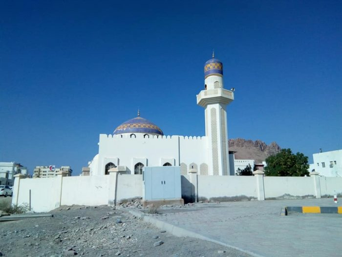 Mosque we see on the way to the supermarket in Nizwa, Oman. We live beside a mosque and hear the salah multiple times daily. Beautiful devotion there.