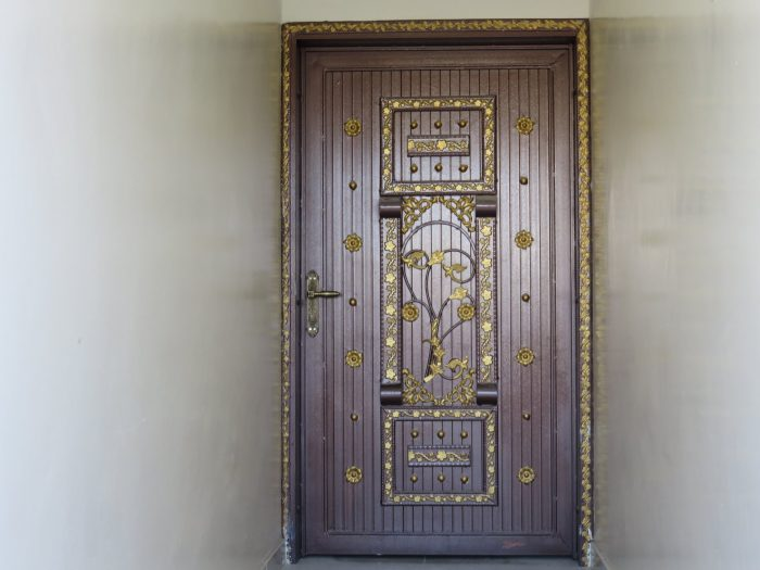 Door to the apartment in Nizwa,Oman. The door to the compound is even more ornate.