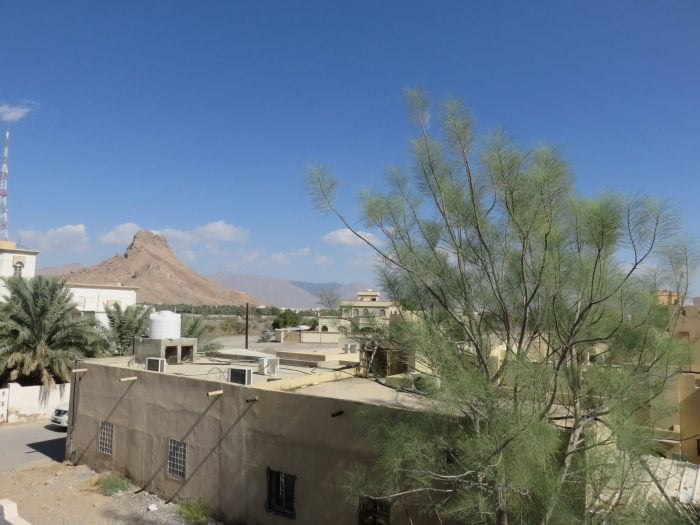 View from the bedroom in Nizwa, Oman. Kelli and I wake up to bright blue skies daily because....well....we are in the middle of the desert. Not much rain here. Even during rainy season. Which is not too rainy.
